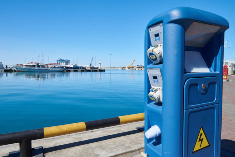 Image of a shore power terminal