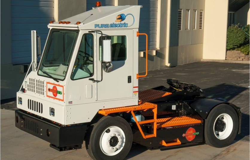 This is an image of a electric port truck