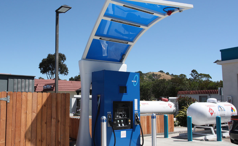 This is an image of a hydrogen station